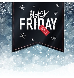 Black friday snowfall background vector