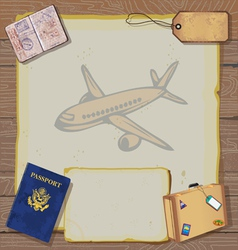 Bon voyage party invitation vector