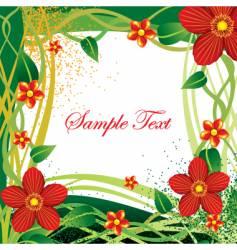 floral cluster vector image