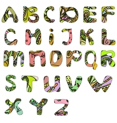 Hand drawn doodle abc font vector