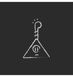 Balalaika icon drawn in chalk vector image