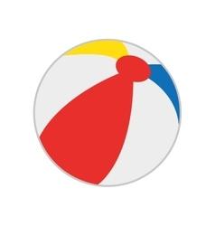 beach balloon isolated icon vector image