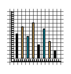 color sections silhouette of statistic graphic vector image