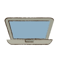 Drawing laptop technology search design vector