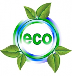 eco green icon vector image vector image