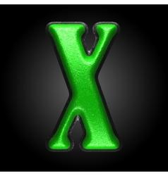 Green plastic figure x vector
