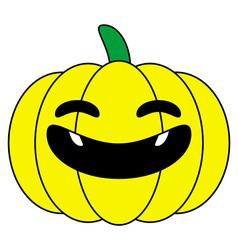 Halloween pumpkin yellow cartoon logo isolated vector