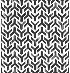 Hand drawn tribal monochrome pattern Primitive vector image vector image