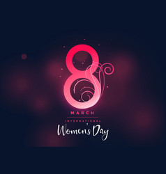 happy womens day dark beautiful background vector image vector image