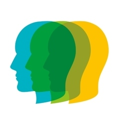 Heads profile colorful vector
