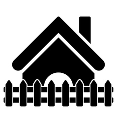 Home fence flat icon vector
