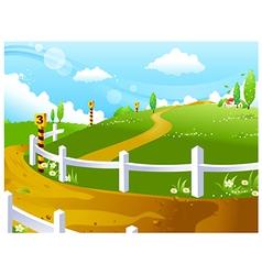 Idyllic landscape background vector