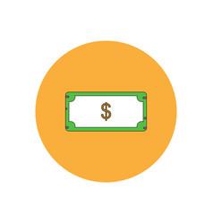In flat design of paper money vector