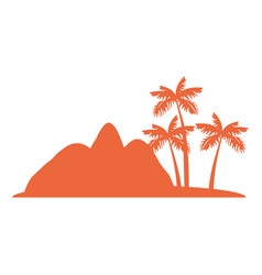 isolated island landscape vector image