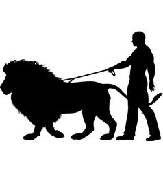 Lion walker vector