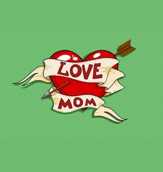 love mom tatto vector image