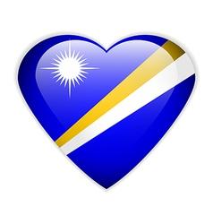 Marshall islands flag button vector
