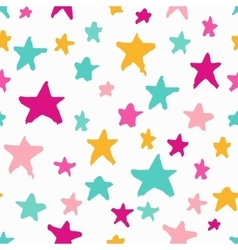 Monochrome seamless pattern with stars vector