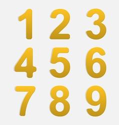 Number Set vector image vector image