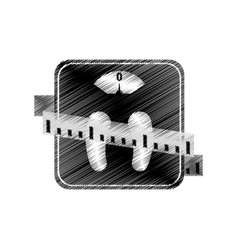 scale weight lose icon vector image vector image