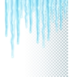 Seamles border with icicles vector image