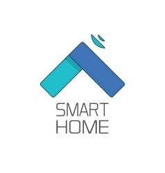 Smart home logo symbol isolated on white vector