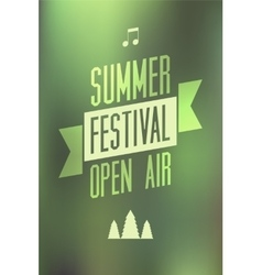 Summer festival open air typographical poster vector image vector image