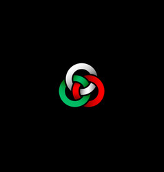 Three bound rings logo vector