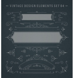 Vintage Swirls Ornaments Decorations Design vector image