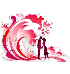 Waves of passion vector image