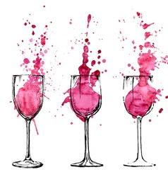 Wine - sketch and art style vector