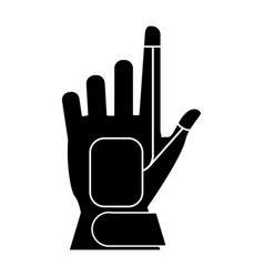 Wired glove virtual reality accesory pictogram vector