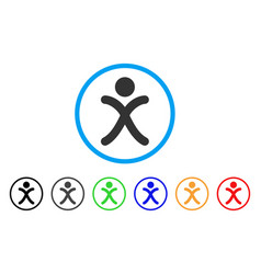 x generation boy rounded icon vector image