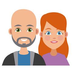 young friends cartoon vector image vector image