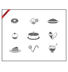 web icons set - sweets vector image