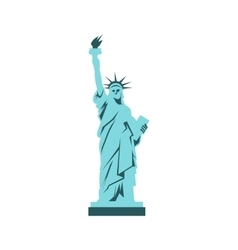 Statue of liberty icon flat style vector