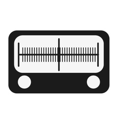 single radio icon vector image