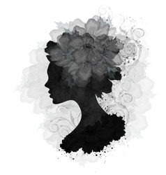 Floral woman vector