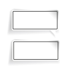 Empty label set black vector