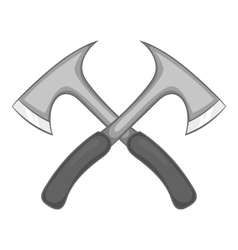 Two axe icon black monochrome style vector