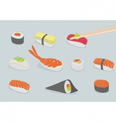 sushi vector image