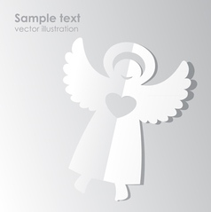 Paper angel template vector