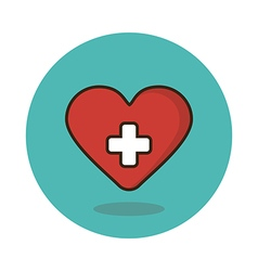 Heart flat icon medical vector