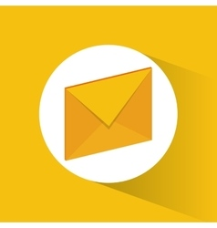 Yellow envelope and email design vector