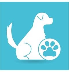 Veterinary clinic concept paw dog vector
