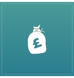 Money bag icon pound gbp vector