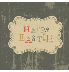 happy easter vintage background vector image