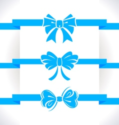 Bow set vector image