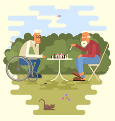 artoon of two chess players vector image