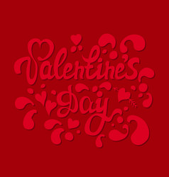 Happy valentines day hand drawn lettering i love vector